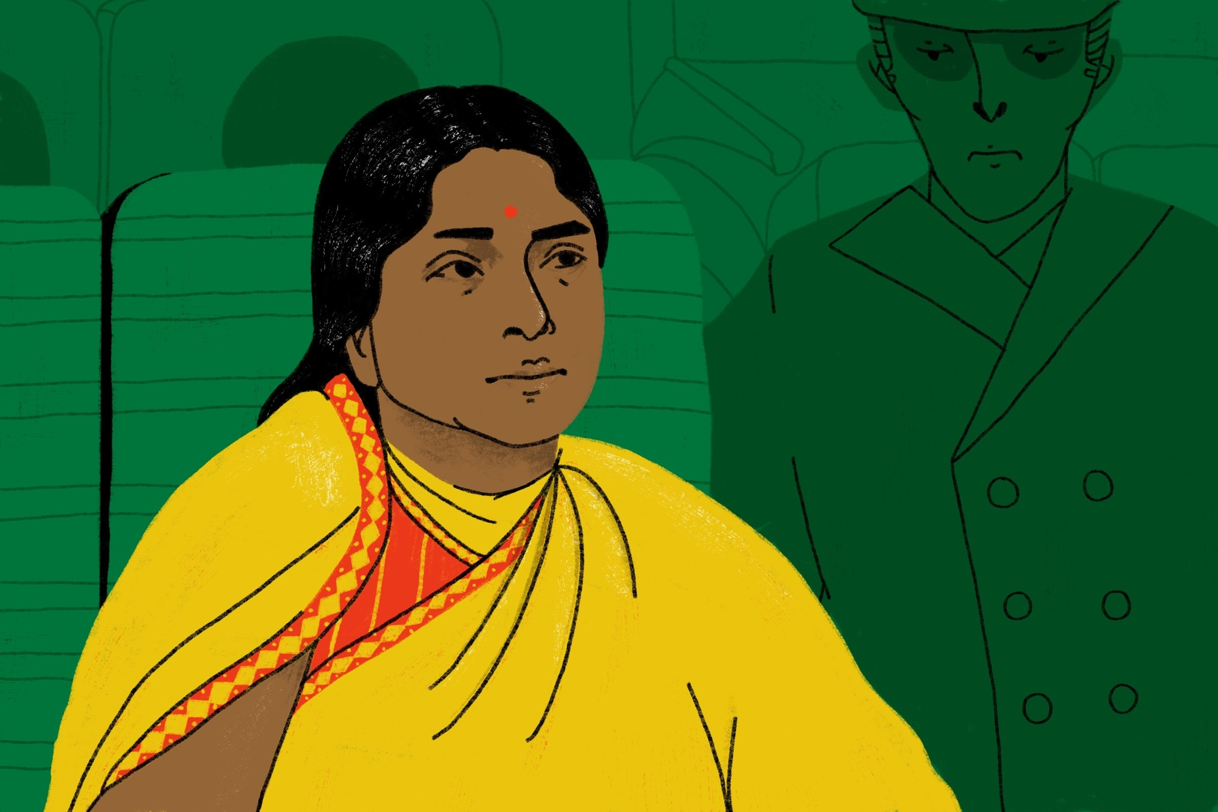 illustration of kamaladevi chattopadhyay