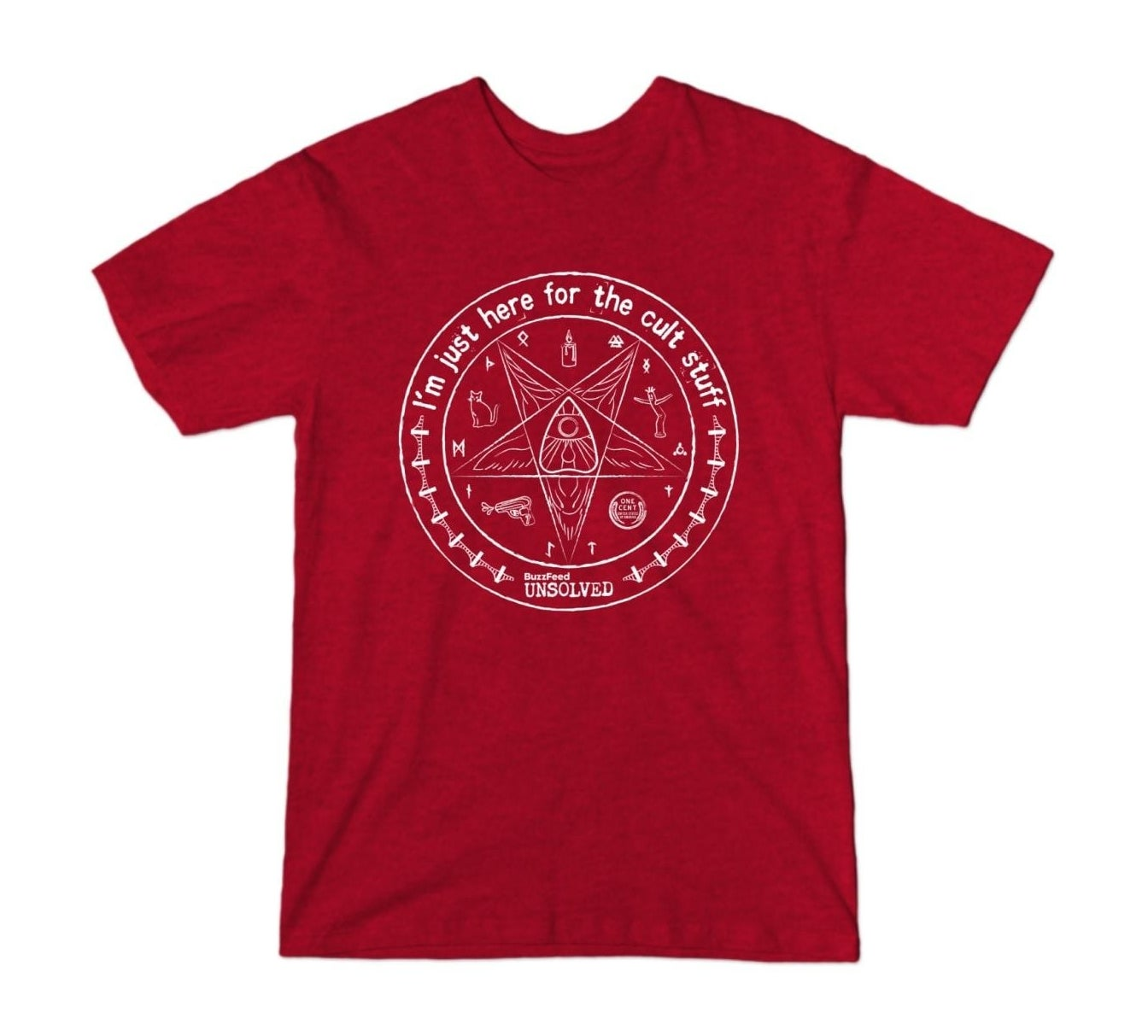 the red heather buzzfeed unsolved cult stuff t-shirt