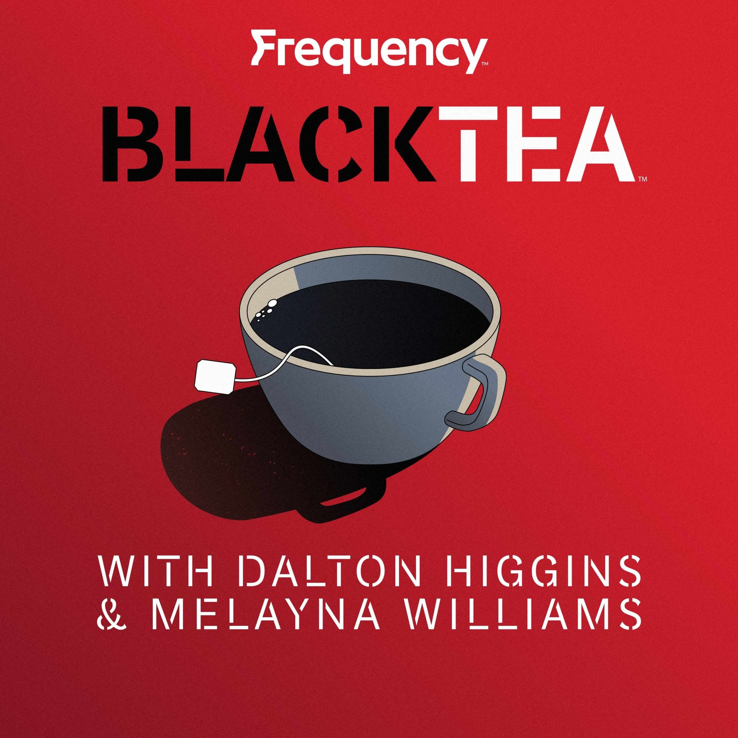 An illustration of a cup of tea with the title Black Tea above it