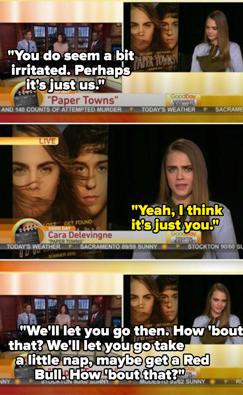 News anchors mocking Cara Delevingne