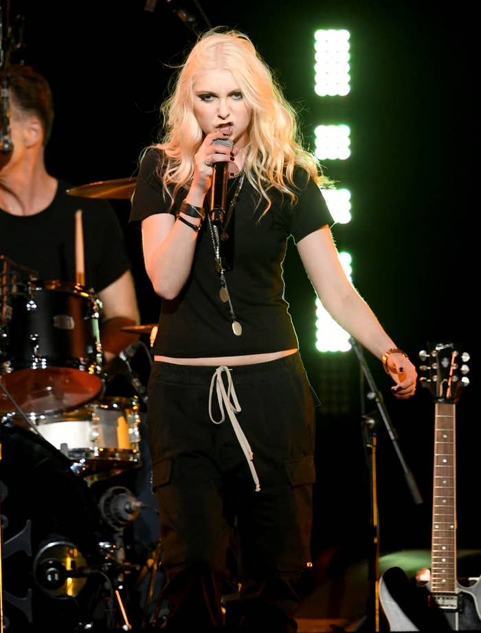 Taylor Momsen onstage performing at a Chris Cornell tribute concert in 2019