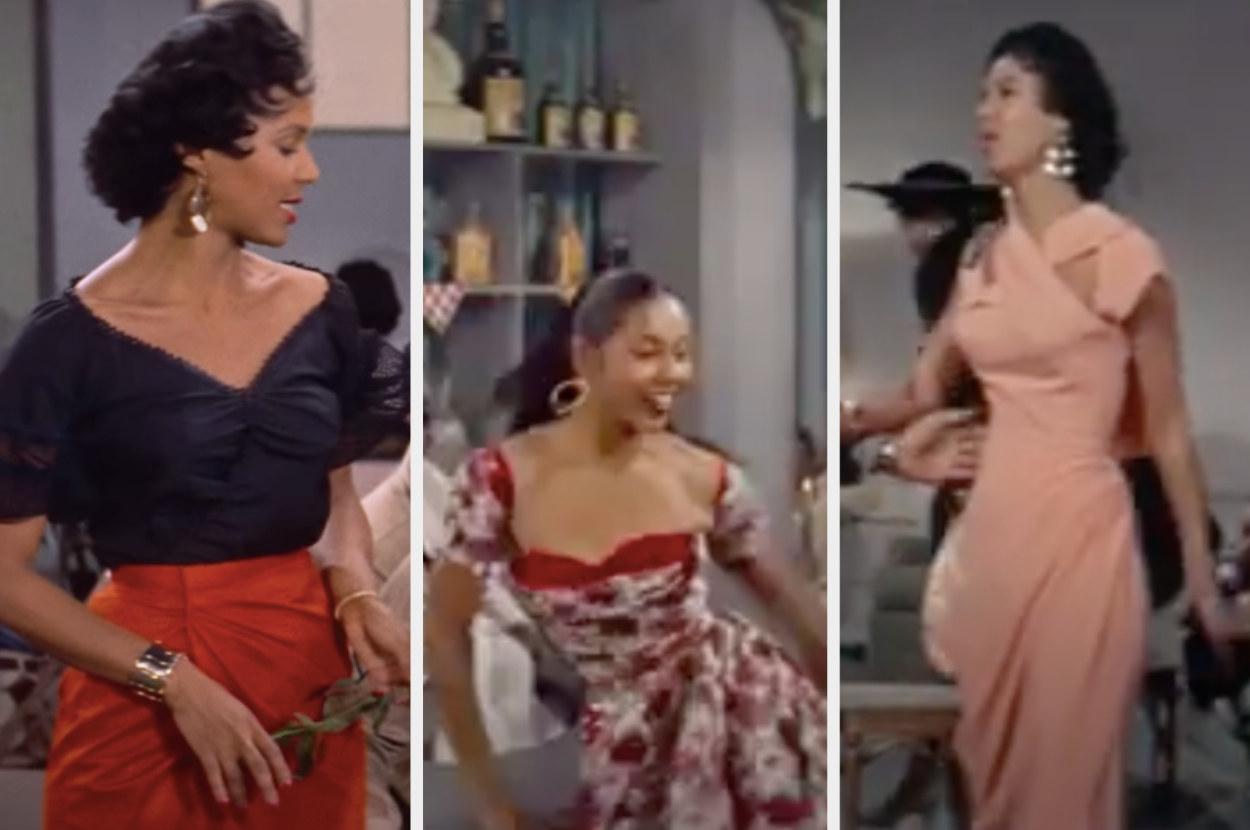 "Three looks from ""Carmen Jones"""