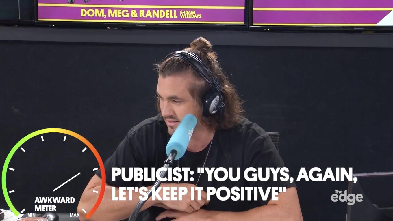 Radio hosts of The Edge interviewing Demi Lovato