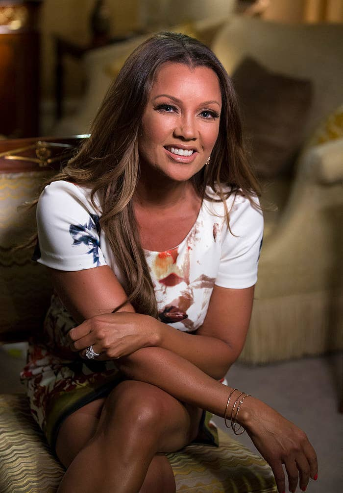 Vanessa Williams during a Good Morning America interview with Robin Roberts