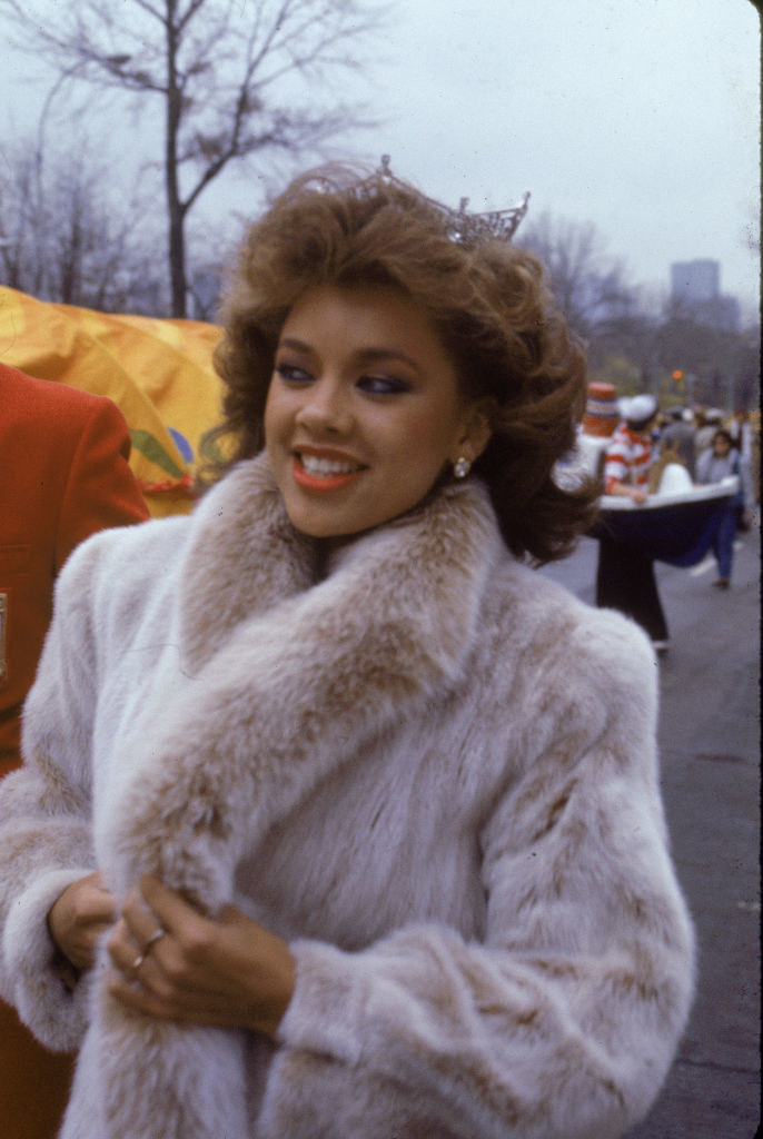 American model and actor Vanessa Williams, the first African - American Miss America, smiles while appearing in the Macy's Thanksgiving Day Parade
