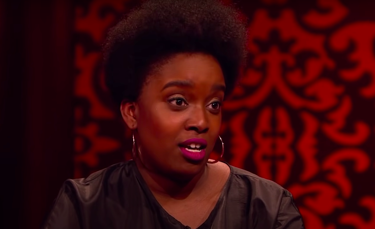 """Lolly Adefope looking angry on """"Taskmaster"""""""