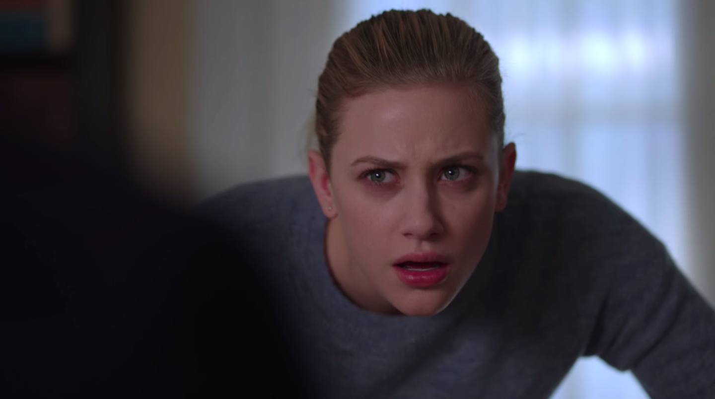 """Betty from """"Riverdale"""" looking outraged and angry"""