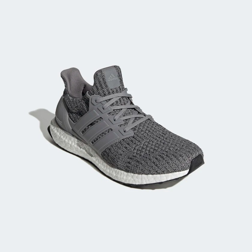 front view of the shoe in grey