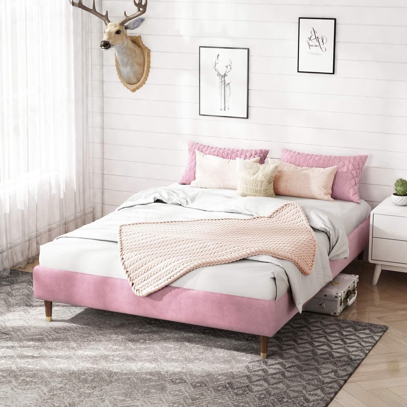 the pink velvet bed