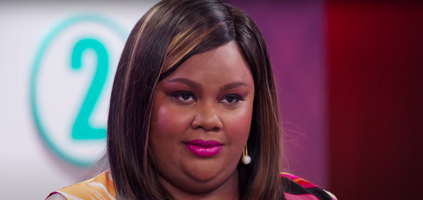 """Nicole Byer on """"Nailed It"""" looking amused and indignant"""