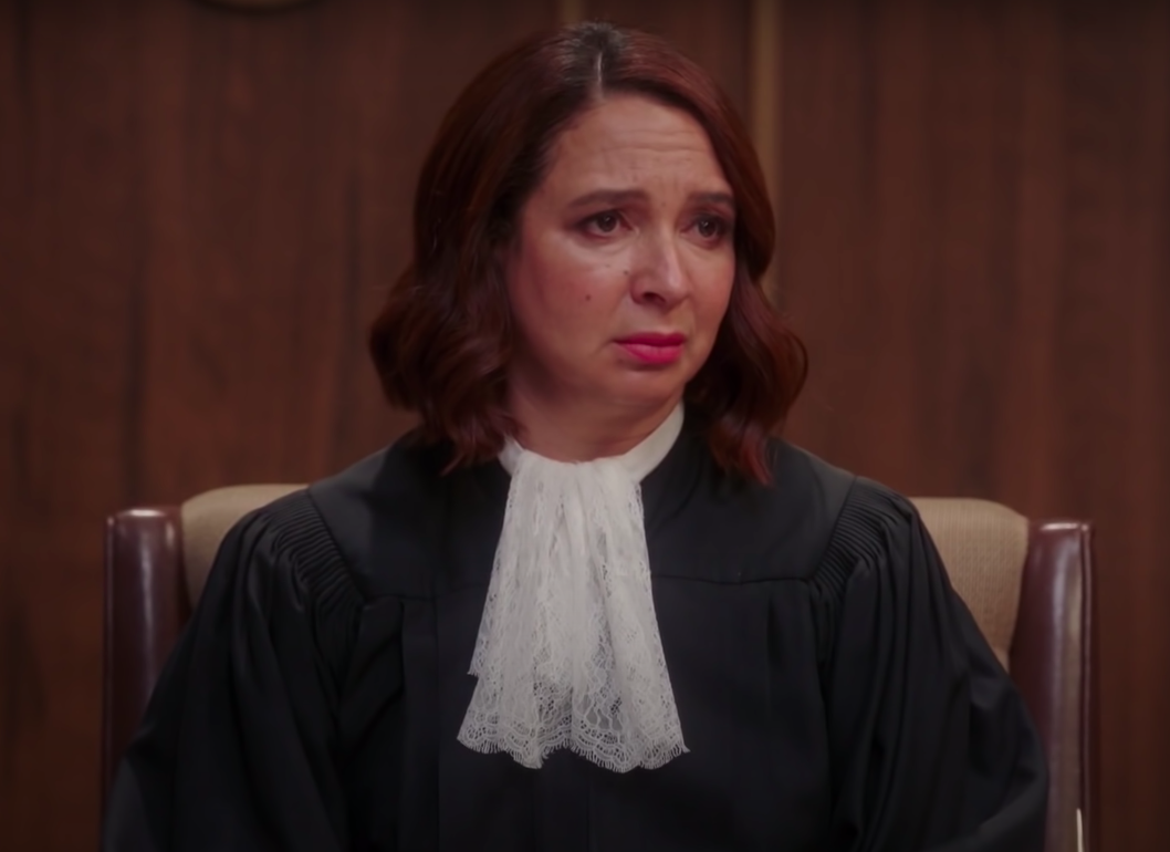 """The Judge from """"The Good Place"""" looking annoyed"""