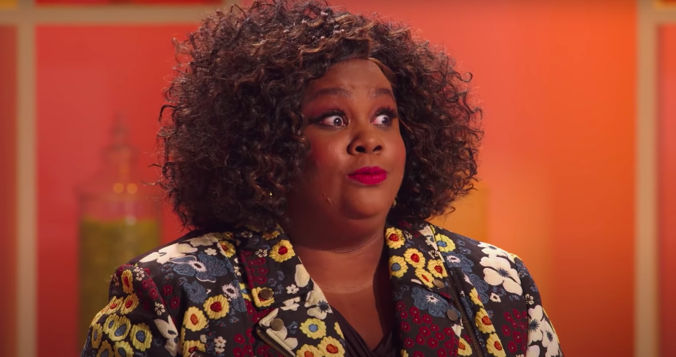 """Nicole Byer on """"Nailed It"""" looking shocked"""
