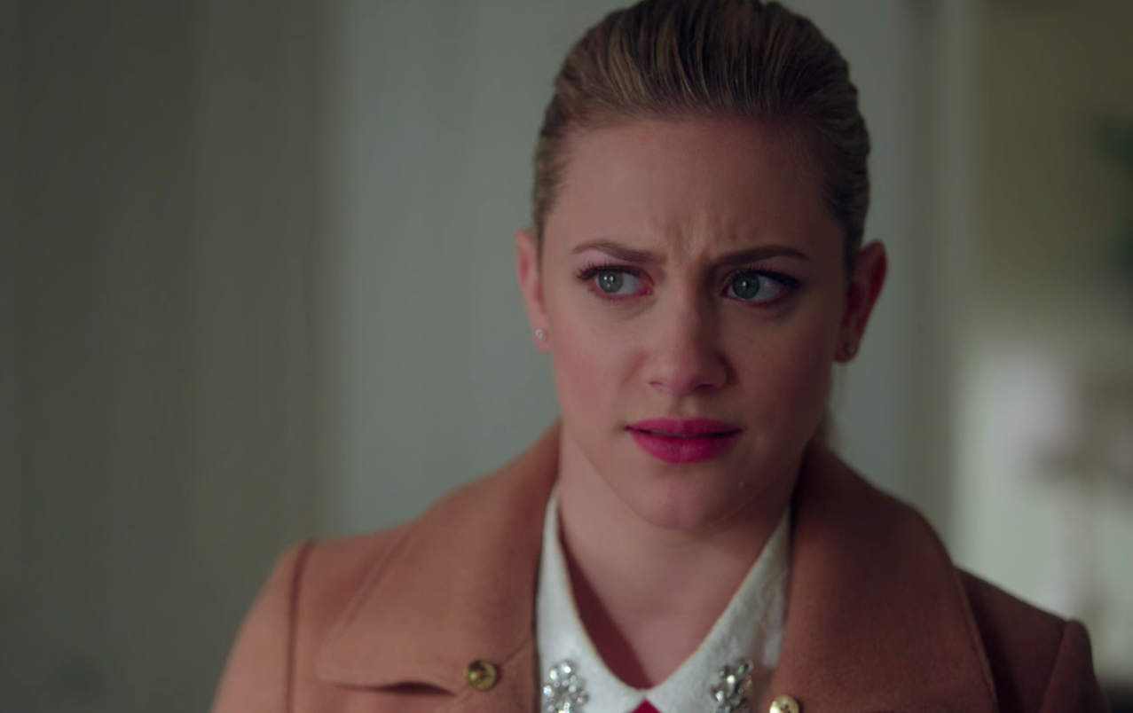 """Betty from """"Riverdale"""" looking confused and angry"""