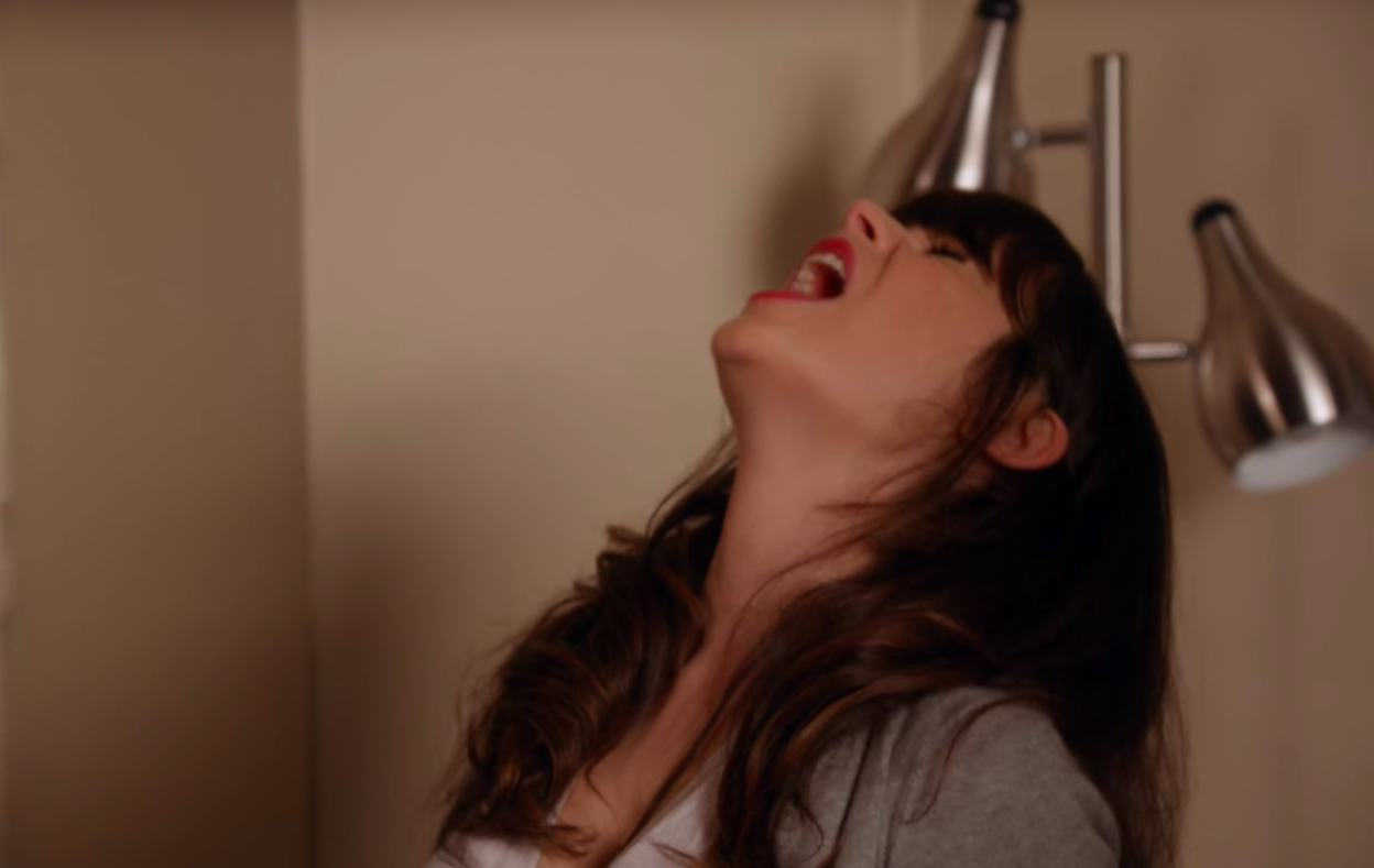 """Jess from """"New Girl"""" screaming in frustration"""