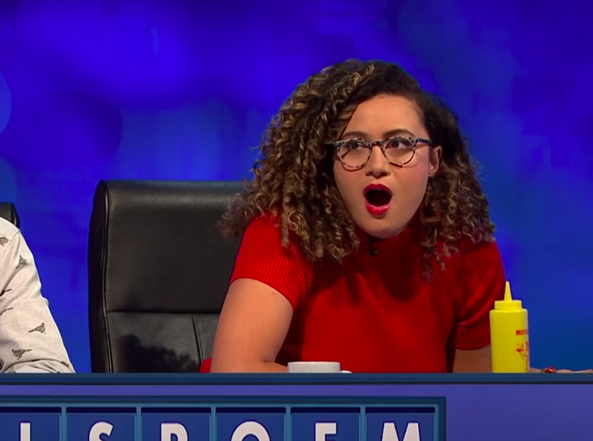 """Rose Matafeo gasping on """"8 Out of 10 Cats Does Countdown"""""""