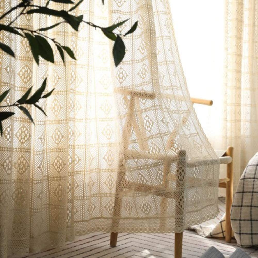 Vintage style lace curtains