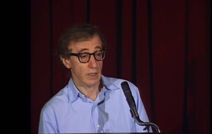 Woody Allen at a press conference in 1992.