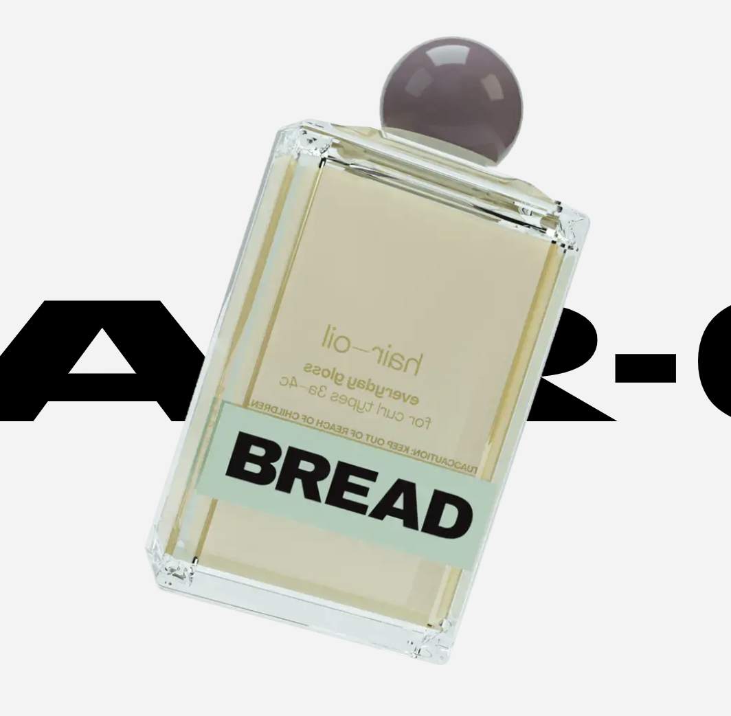 Bottle of Bread Beauty Supply hair oil
