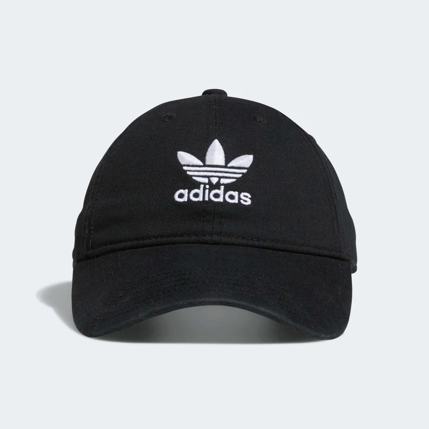 The black hat with the Adidas logo