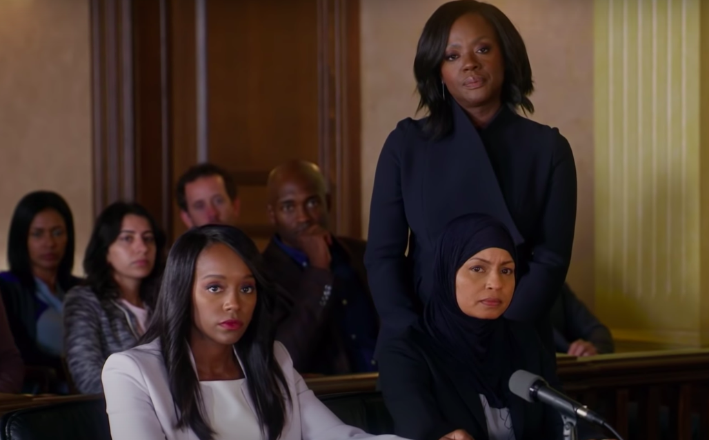 """Three women l looking angry on """"How to Get Away with Murder"""""""