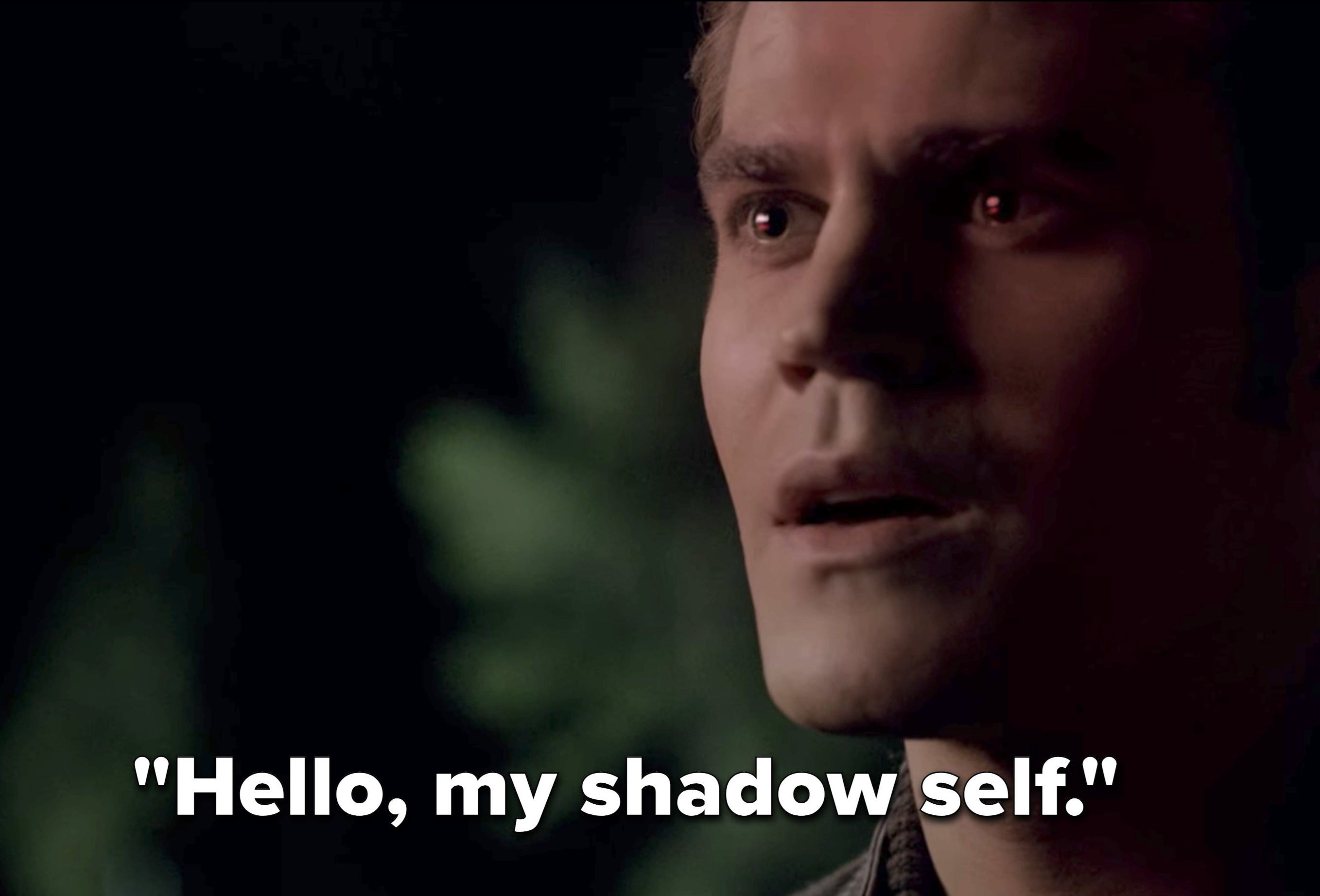 "Silas saying, ""Hello, my shadow self"" on The Vampire Diaries"
