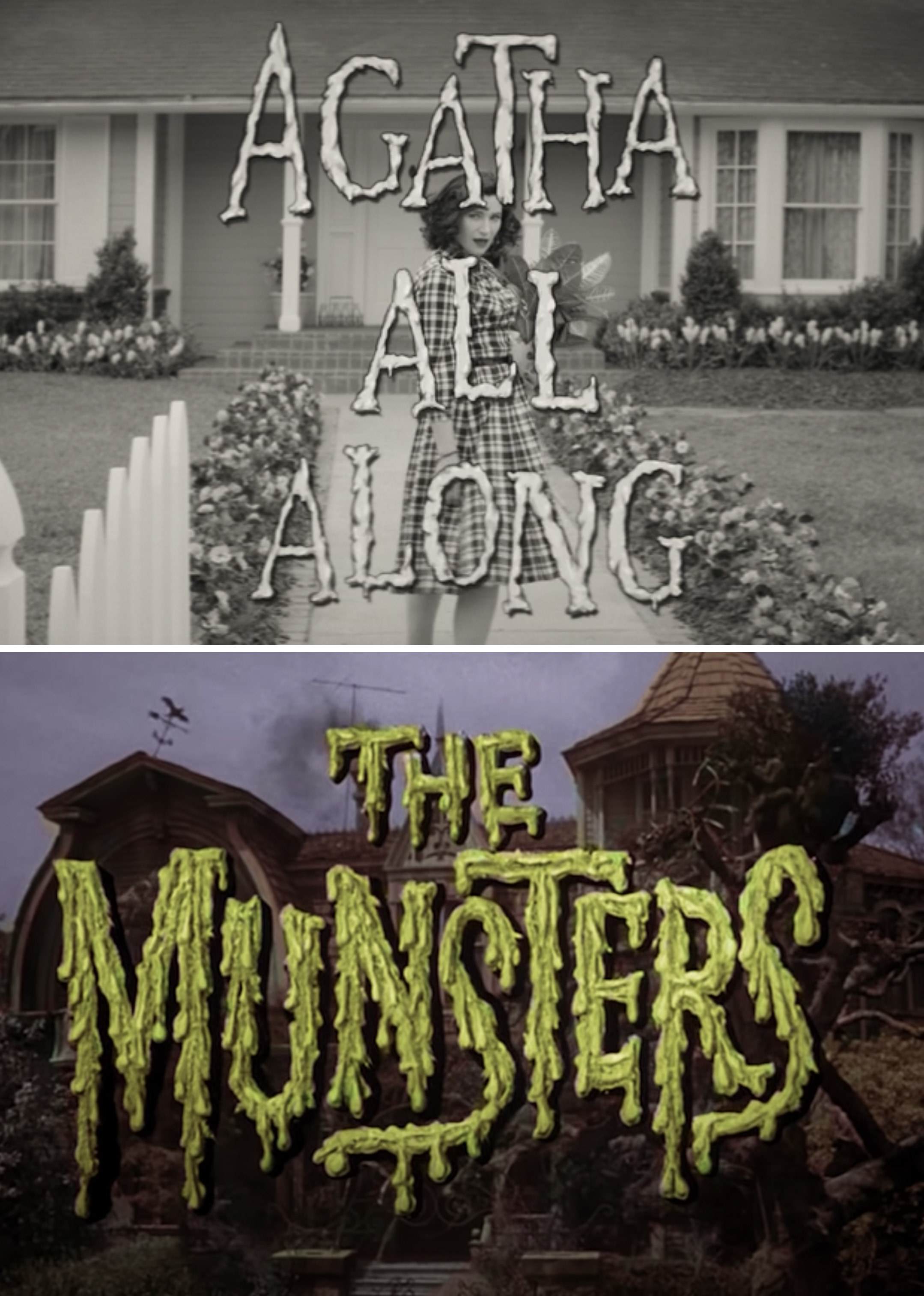 Agatha All Along title vs. The Munsters titles