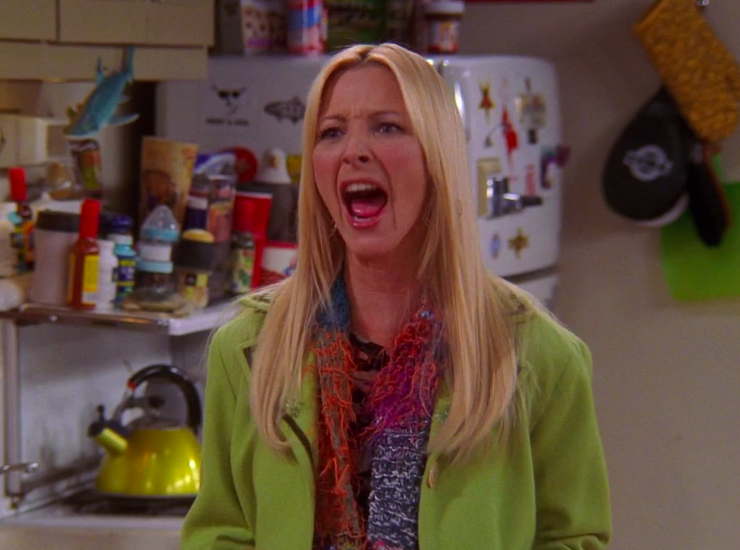 """Phoebe from """"Friends"""" screaming"""