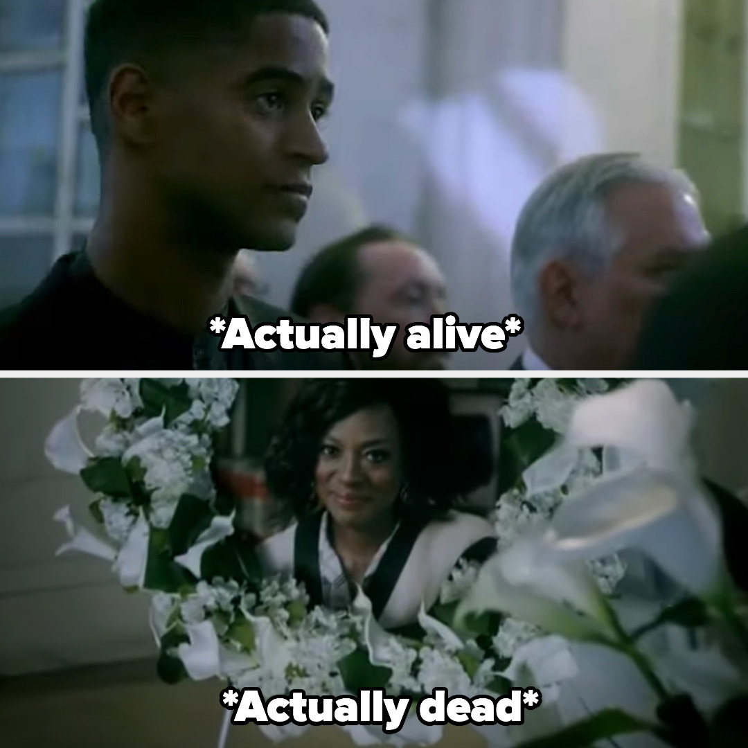 Wes actually being alive at Annalise's funeral