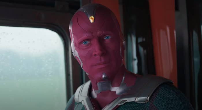 Vision stares off thoughtfully