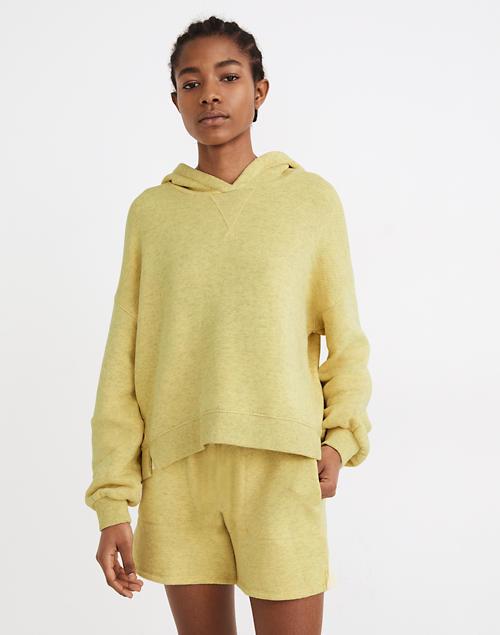 yellow sweatshirt and matching shorts