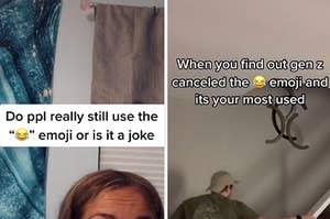 TikToks making fun of the laugh-crying emoji