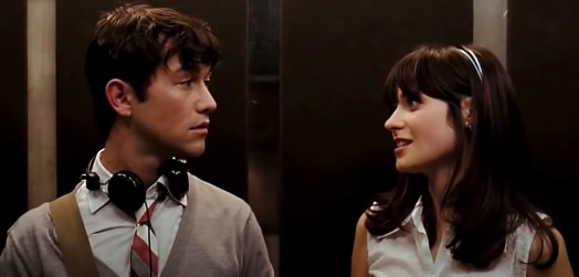 "elevator scene in ""500 Days of Summer"""