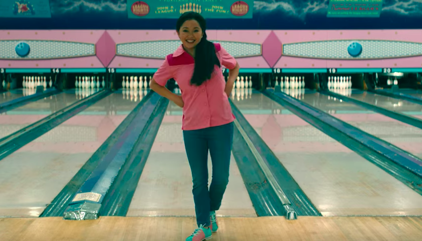 "Lara Jean bowling in ""To All the Boys"""