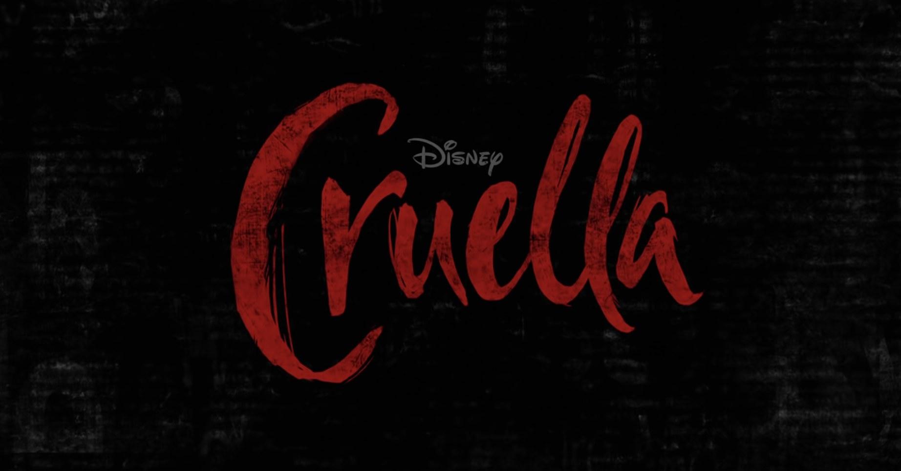 Cruella logo in the first official trailer
