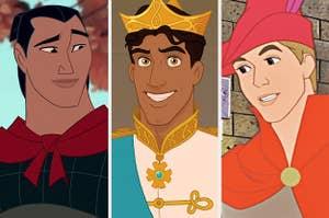 Li Shang, Prince Naveen, and Prince Phillip