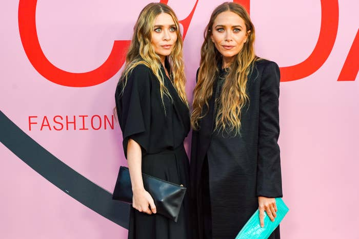 Mary-Kate and Ashley Olsen on the red carpet at the CFDA Fashion Awards in 2019