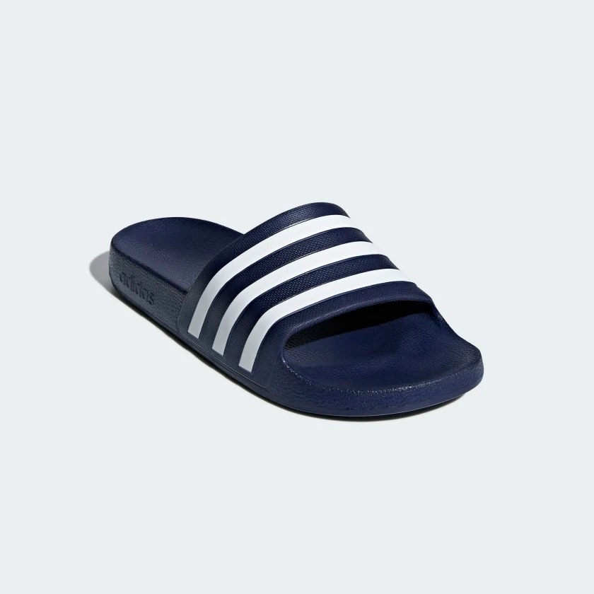 The slipper set on a light blue background