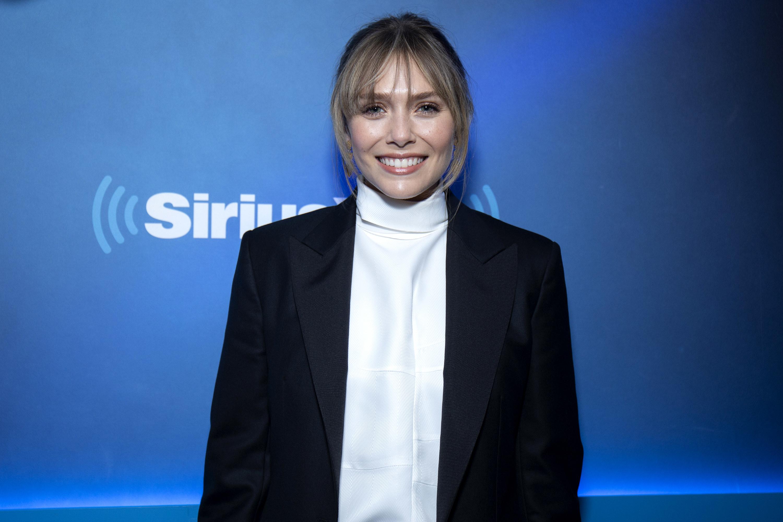 Elizabeth Olsen at New York City's SiriusXM Studios in 2019