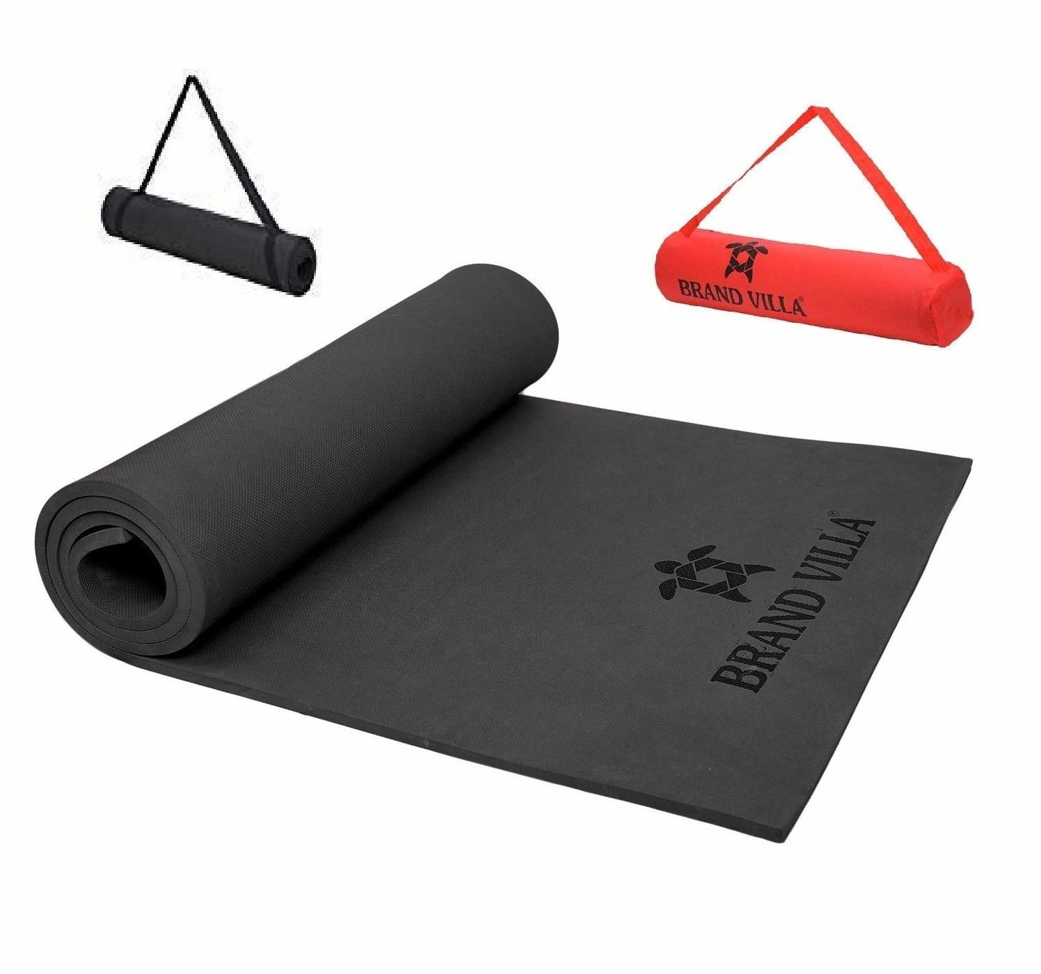 A black yoga mat