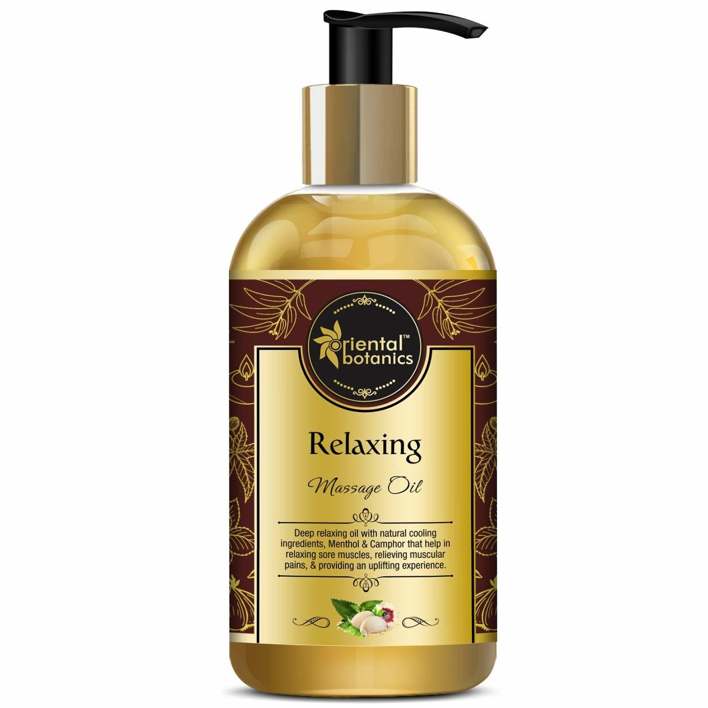 Bottle of the massage oil