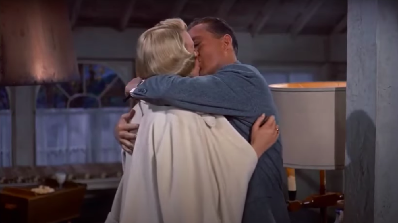 Betty and Bob kissing