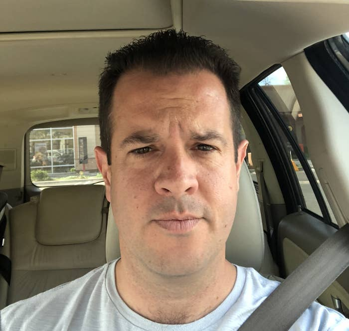 A boring suburban dad and his boring suburban dad haircut