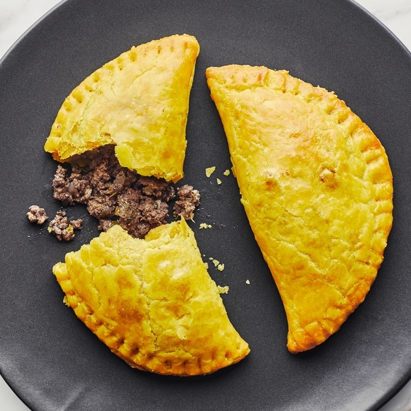 A plate of Jamaican beef patties