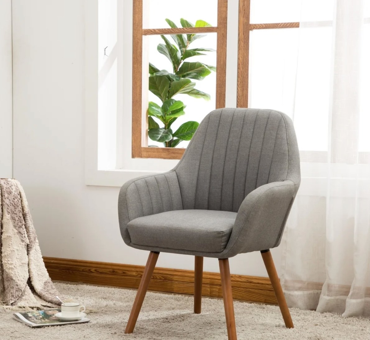 The accent chair in gray