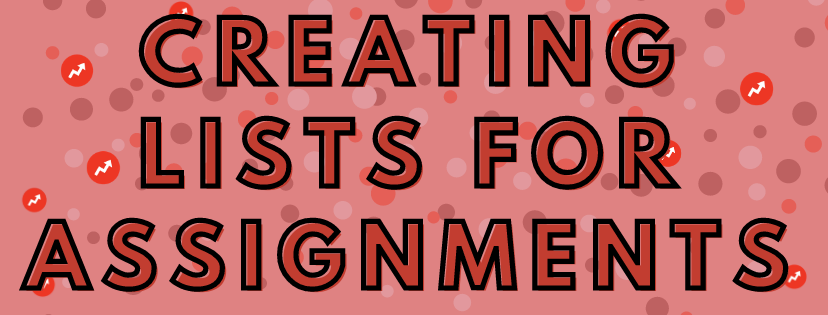creating listicles for assignments