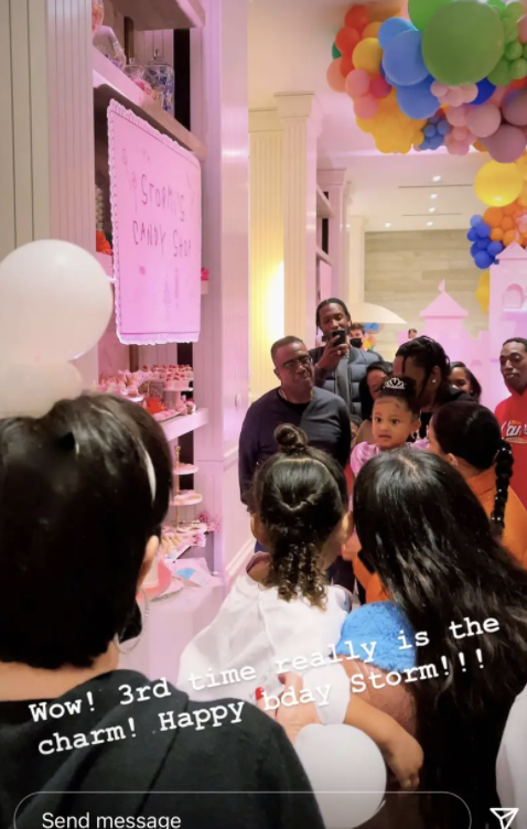 Kylie throwing Stormi a lavish party