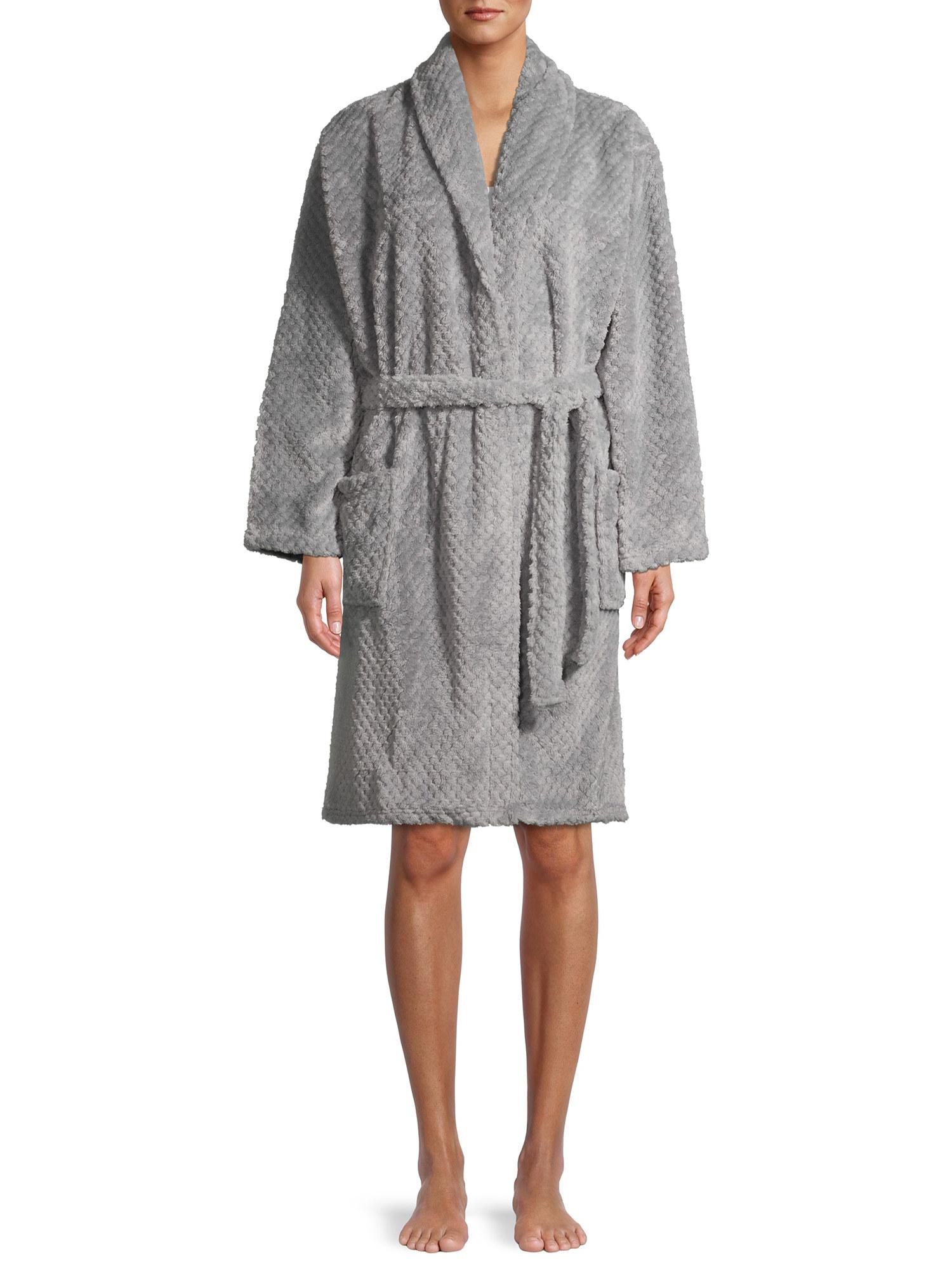 the robe in gray