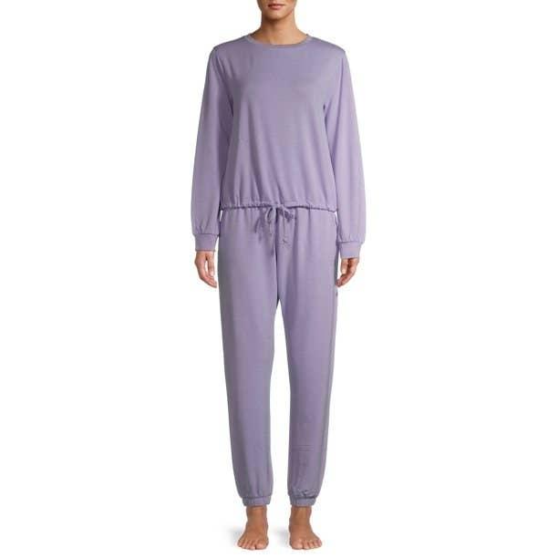 the pajamas in lavendar