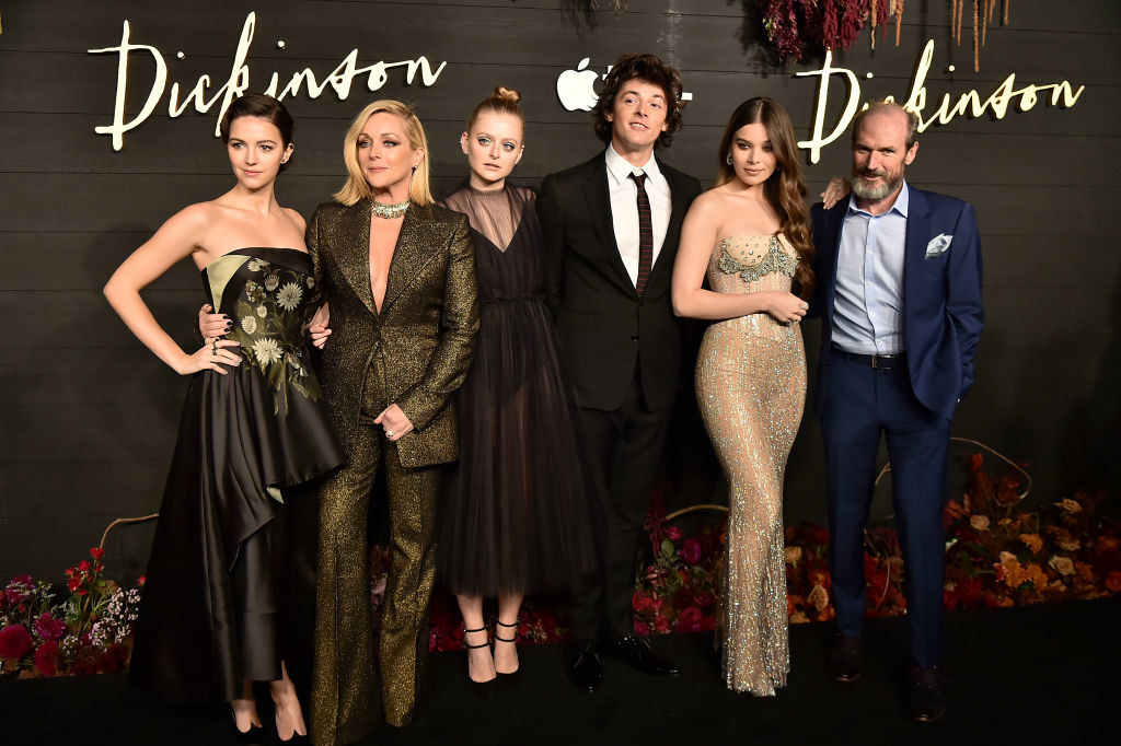 The cast of Dickinson at the Season 1 premiere in 2019