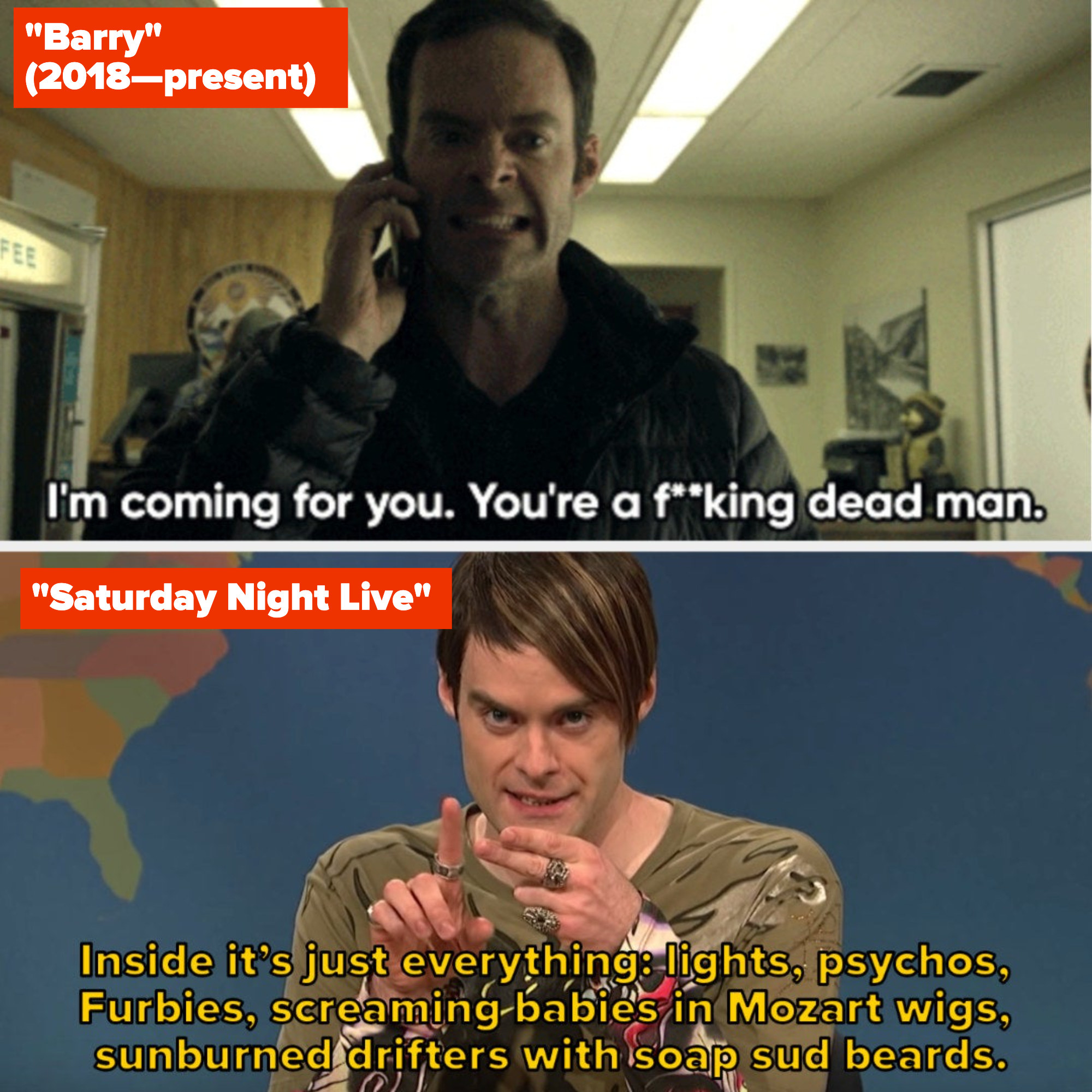 """Bill Hader in """"Barry"""" and """"Saturday Night Live"""""""